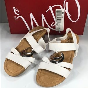 [183] Impo 7 M Geanna Wedge Sandals Women's Shoes